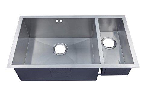1.5 Hecho a mano de cocina fregadero. Acero inoxidable cepillado para fregadero. Montaje bajo encimera (DS032 L)
