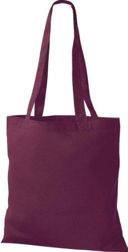 ShirtInStyle Premium Stoffbeutel Baumwolltasche Beutel Shopper Umhängetasche viele Farbe burgundy
