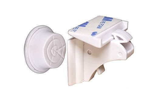 4er MagicLock magnetische Schranksicherung Baby - unsichtbare Kindersicherung einfach zu installieren ohne Bohren zum Kleben und rückstandslosem Entfernen, Schutz für Kinder