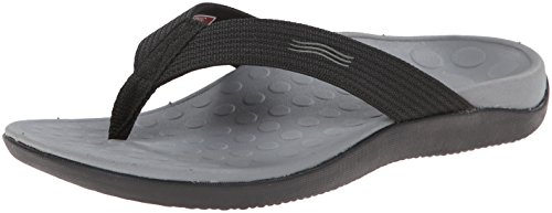 Vionic Unisex Wave Toe Post Sandal, 15 B(M) US Women/14 D(M) US Men, (Black) (Womens Orthaheel Schuhe)