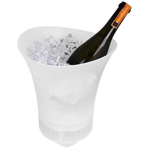 TW24 Sektkühler mit Bluetooth Lautsprecher inklusive USB-Ladekabel Weinkühler Eiskübel Flaschenkühler