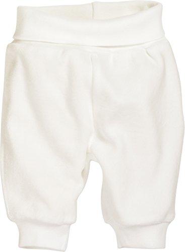 Schnizler Unisex Baby Hose Babyhose, Jogginghose aus Nicki mit elastischem Bauchumschlag, Oeko-Tex Standard 100, Beige (Natur 2), 50