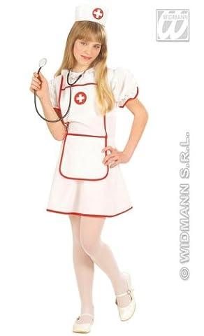 Infirmière Costume avec fibre optique Flashing Lights - enfants Costume de déguisement - Petit - Age 5-7 - 128cm