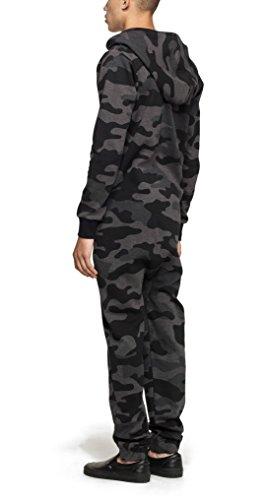 Onepiece Damen Jumpsuit Camouflage, Grau (Grey Melange) - 5