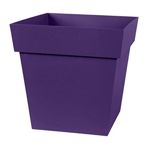 EDA Plastiques Pot TOSCANE carré 13643 VI.PR SX6 Prune 32 x 32 x 32 cm