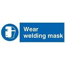 """Viking signos mp290-l15-v """"desgaste máscara de soldadura"""" signo, vinilo, 50mm H x 150mm W"""