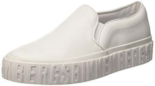 Bikkembergs Damen Iconic Slip On, Weiß (White 800), 40 EU