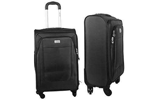 Maleta semirrígida PIERRE CARDIN negro mini equipaje de mano ryanair S280