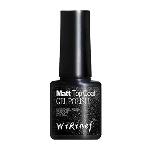 8 ml Gel-Nagel Temperament Matt Fingernagel mattes Einwegversiegelungsmittel Langanhaltender, schmerzloser Matt-Decklack-Gelpolierkleber Künstliche Fingernägel Phototherapie Nagelöl
