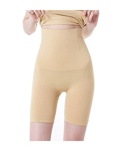 KissLace Damen Miederslip mit Bauch-weg-Effekt Miederhose Butt Lifter Shaper figurenformend Shapewear Hautfarbe M/L