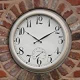Große Uhr Weiß - 59cm