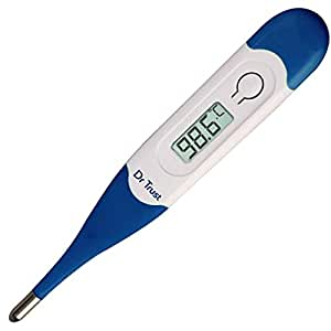 Dr Trust (Usa) Waterproof Flexible Tip Digital Thermometer (White)