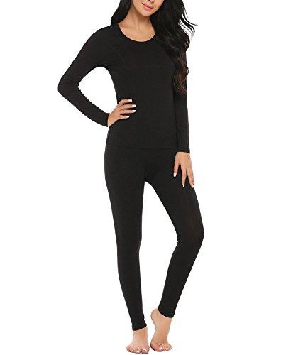 AIMADO -  Coordinato abbigliamento termico  - Donna Schwarz(Typ B)