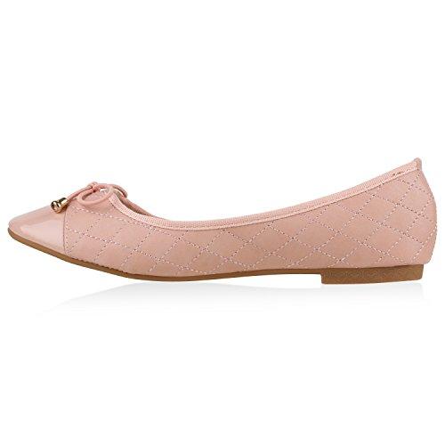Óptica Sapatos Rosa Apartamentos Confortáveis De bailarinas Mulheres Chinelo Couro FEO8qq