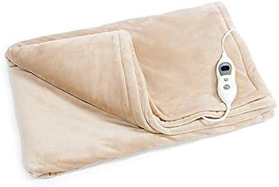 vidab Elle eléctrica Manta de Wellness Manta eléctrica premium, lavable a máquina, con 6niveles de temperatura + Protección contra sobrecalentamiento