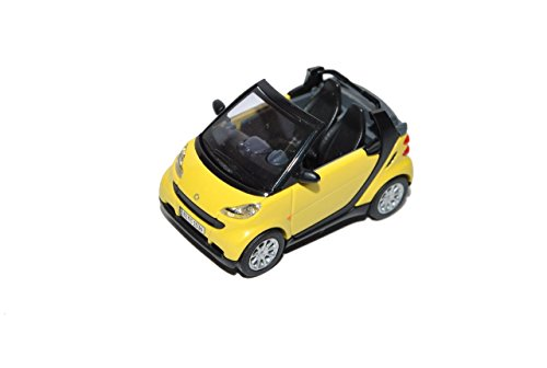 Smart ForTwo Cabrio Gelb Ab Facelift 2010 Modell 2007-2014 A451 H0 1/87
