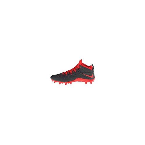 Nike Huarache 4 Lax Lacrosse Crampons Grey/Red