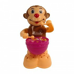 """Babytintinâ""""¢ Happy Drummer With Toy Light, Music and 360 degree Rotation Toys (Monkey Drummer)"""