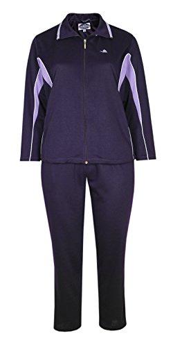 Damen Baumwoll Freizeit- Sportanzug Jogginganzug in fünf schönen Farbtönen-Darl-Violet-3XL