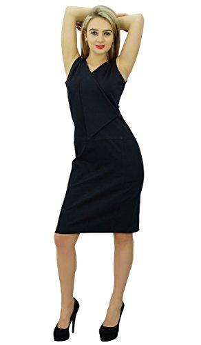 Bimba casual v cou mince robe crayon de travail formel moulante Survêtement veste bleu marin
