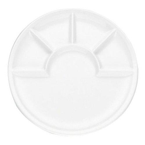 "Kela 67837 \""Arcade\"" Fondue Käsefondue Teller, Keramik, Weiß, 26cm"