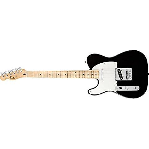 Fender Telecaster Standard zurdo Guitarra eléctrica con el diapasón de arce - Negro