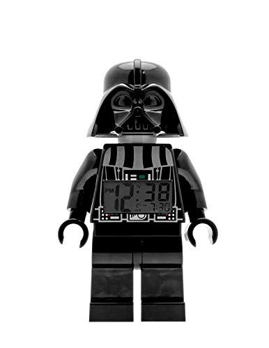 LEGO Despertador con luz Infantil con figurita de Darth Vader Star Wars 9002113, Negro