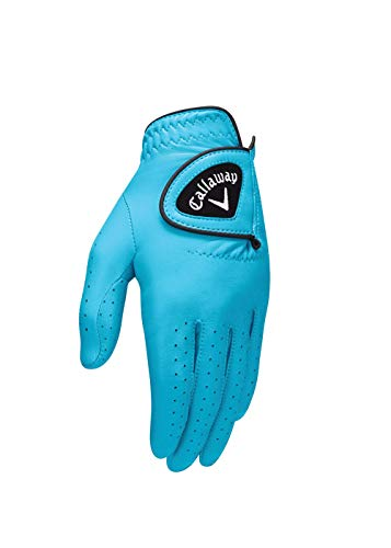 Callaway Golf 2017 Damen opticolor Leder Handschuh, Herren, OPTIFLEX Gloves, Aqua, S
