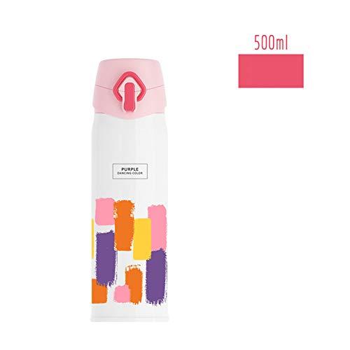 Mathe-cap (Wasserflasche Mode literarische Aquarell Tasse im Freien Becher Vacuum School Bouncing Cap Küche Haushalt Wohnen Geschirr Besteck Gläser)