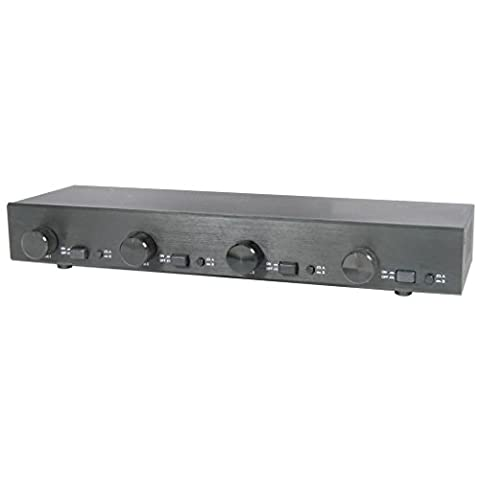 AV Link 2x4 Matrix Selector Switch with Volume Controls for
