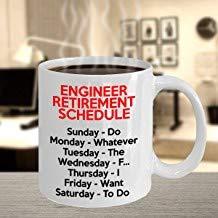 LECE Engineer Retirement Gifts For Women And Men, Retired Engineer Mug, Funny Gift Idea For Retiring Engineer, Engineer Gag Gift Joke Tea Cup