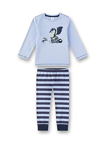 Sanetta Jungen Pyjama Zweiteiliger Schlafanzug, Blau (Oxford Mel 50252), 98 (Herstellergröße: 098)