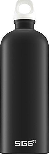 SIGG Traveller Black Touch, Trinkflasche, 1 L, Aluminium, BPA Frei, Schwarz