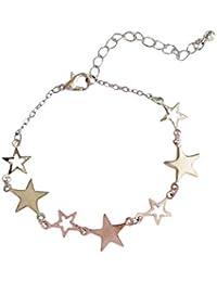c297048ea47c Scrox 1 Piezas Pulsera de Plata Elegante y refinada Joyería con Forma de  Estrella de Cinco
