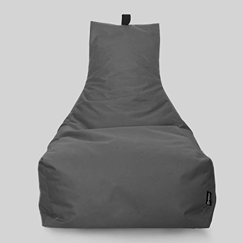 BuBiBag Sitzsack Lounge Sitzsack Sitzkissen XXL Tobekissen Bodenkissen Beanbag Kissen, für Kinder und Erwachsene (Anthrazit)