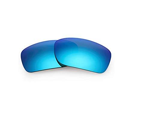 Polarisierte Ersatzgläser für Oakley Turbine OO9263 Gr. 85, blau