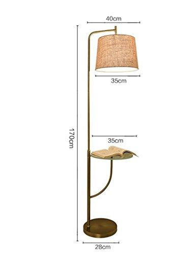 Cailin Lampe, Fußschalter Können Gegenstände Senkrecht Eisen Tuch Schatten Einfache Stehlampe Wohnzimmer Schlafzimmer Sofa Stehlampe Innen-Stehleuchte (Stoff-sofa Platz)