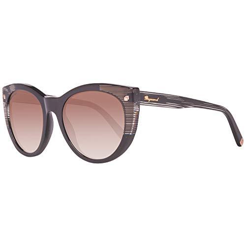 Dsquared2 Damen DQ0180 01F 55 Sonnenbrille, Schwarz,