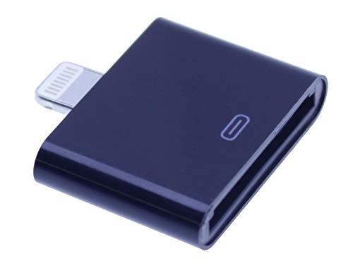 IPRIME 2in1 Adapter 30-polig und Micro USB auf 8 Pin Dock kompatibel mit iPhone und iPad - Schwarz (Iphone Pin-zu 8 30 6 Auf Pin-adapter)