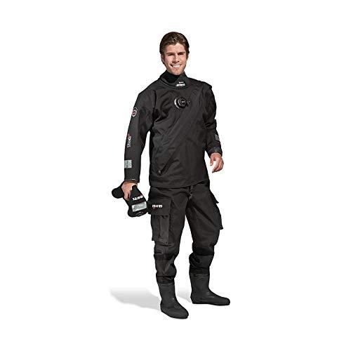 Mares Tech Fit LX Dry Suit-Black/SMK, XS/Größe 24 Medium Transparent/CL