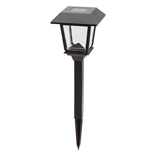 LuminalPark Gartenlaterne mit viereckiger Solarlaterne H 48,5 cm LED warmweiß