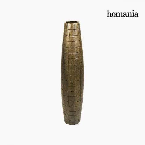 Vase de sol Céramique Or (17 x 17 x 80 cm) by Homania