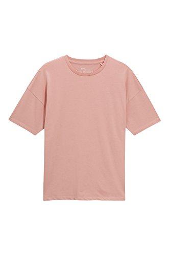 next Herren T Shirt Kurzarm Rundhals Baumwolle Lockere Passform Top T-Shirt Koralle