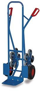VARIOFIT Diable Stahlrohrkarren, Poids : 24 kg, Hauteur : 130 cm, pelle (L x L) : 30 x 25 cm
