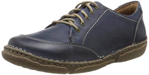 Josef Seibel Neele 02, Zapatos de Cordones Derby para Mujer, Azul Ocean 530, 38 EU