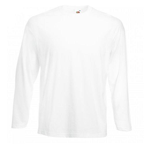 Fruit of the Loom Langarm T-Shirt 61–038–0 Gr. XL, weiß - weiß