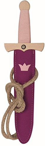 n Dolch-Set - Princess, 35cm Länge aus Buche-Echtholz [Inkl. Dolch-Scheide aus Wollfilz | Viele Details |Made in Germany] ()