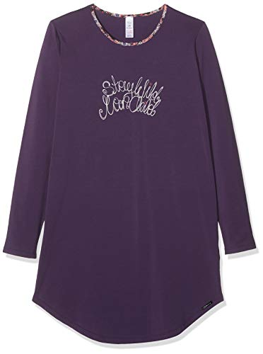 Skiny Mädchen Cosy Night Sleep Girls Sleepshirt Langarm Nachthemd, Violett (Grape 2161), (Herstellergröße: 140)