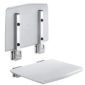 moxin Asiento Abatible para Ducha, Taburete Silla Plegable para Baño – Montaje en Pared, Rodamiento de Aluminio del…