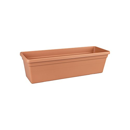 Elho green basics trough balcony planter 80cm - mild terra